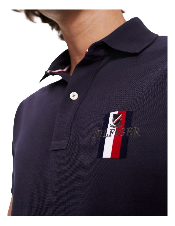 Embroidered Pure Cotton Slim Fit Polo image 4