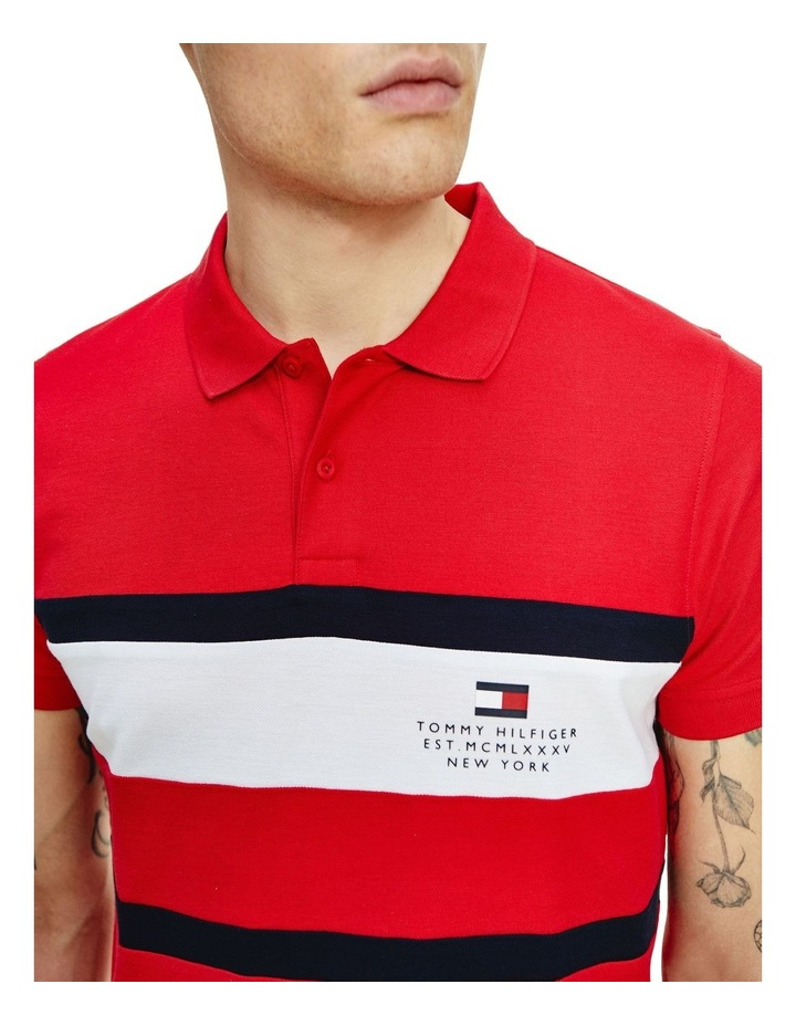 Chest Stripe Slim Polo image 3