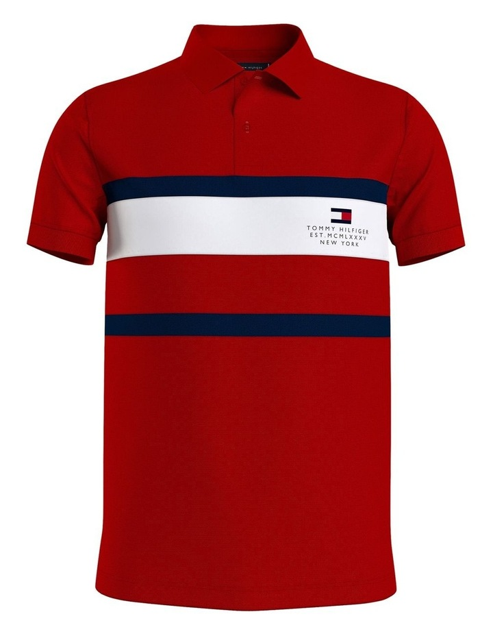 Chest Stripe Slim Polo image 4
