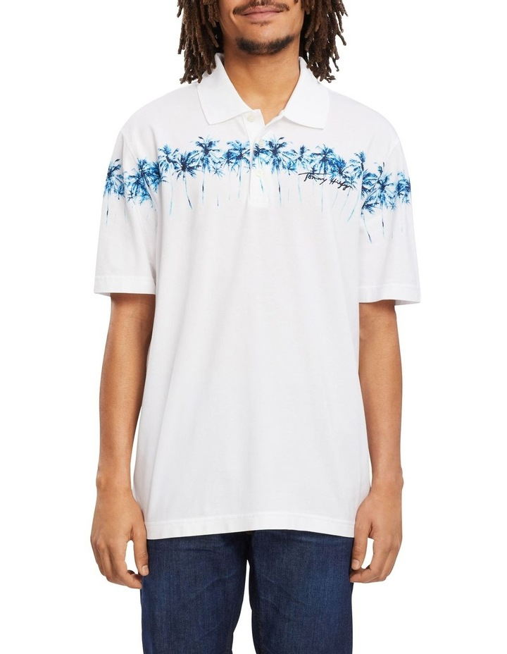 Placed Palm Print Casual Polo image 1