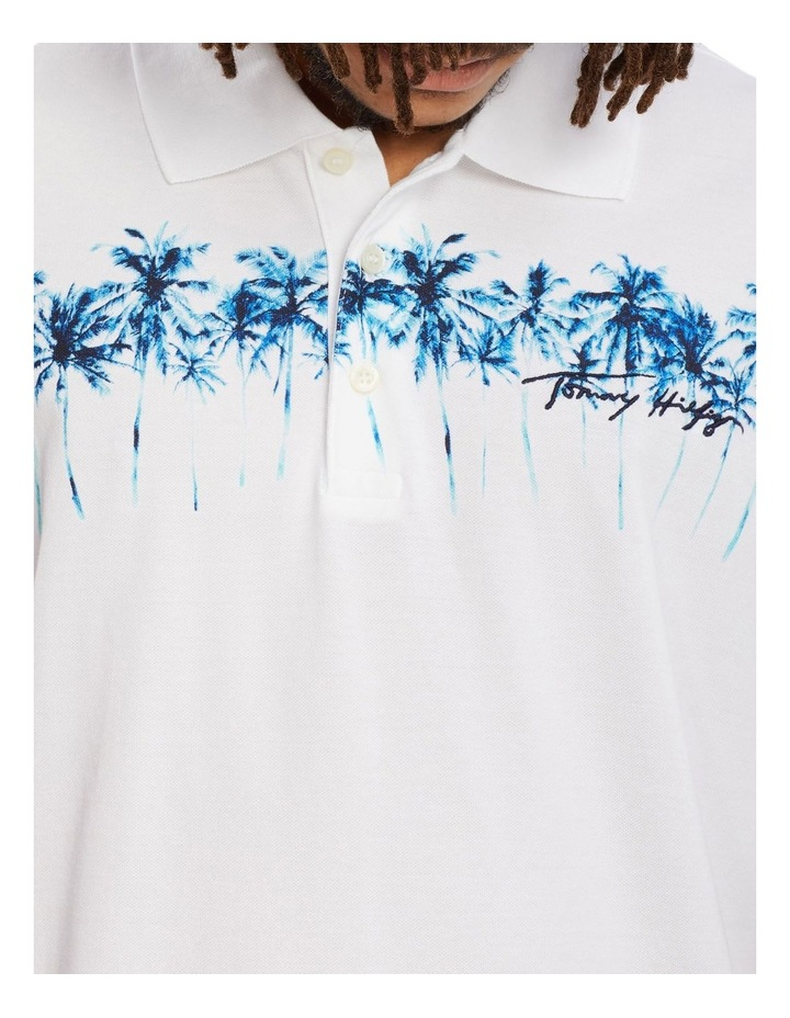 Placed Palm Print Casual Polo image 2