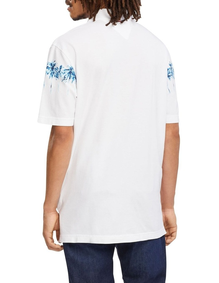 Placed Palm Print Casual Polo image 3