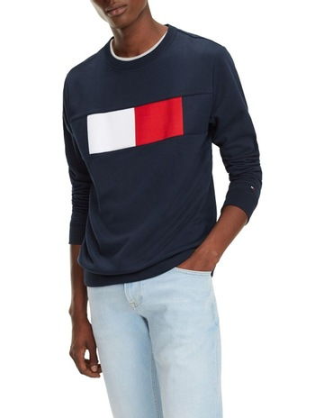 aa650ab6 Tommy HilfigerColour-Blocked Flag Sweatshirt. Tommy Hilfiger Colour-Blocked  Flag Sweatshirt