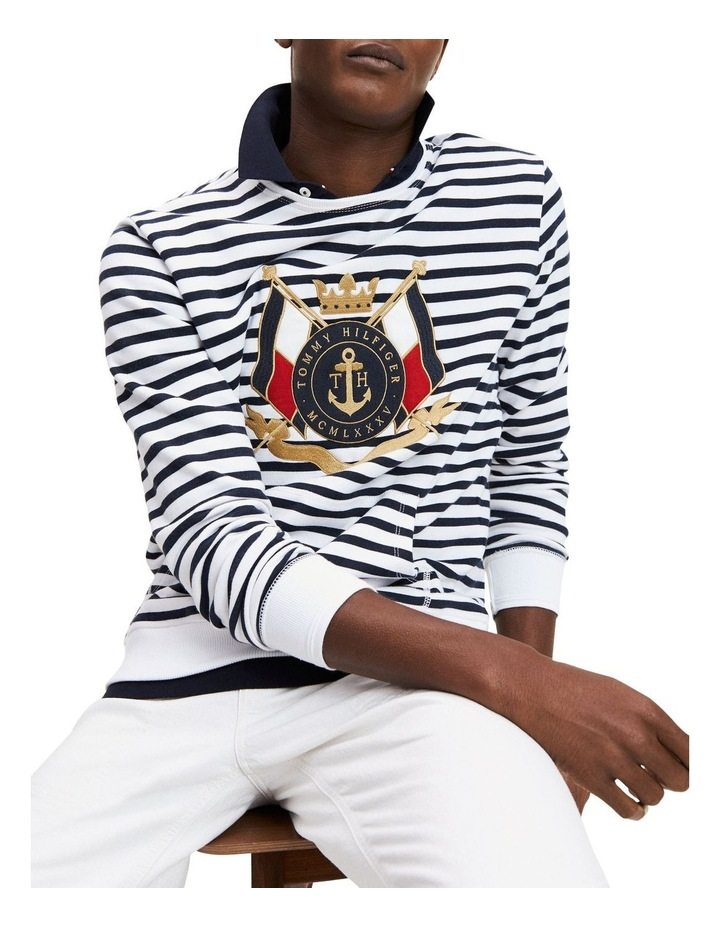 Naval Striped Sweatshirt image 1