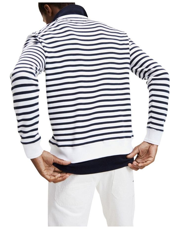 Naval Striped Sweatshirt image 2