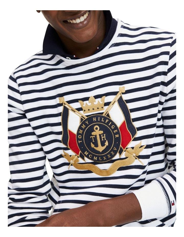 Naval Striped Sweatshirt image 3