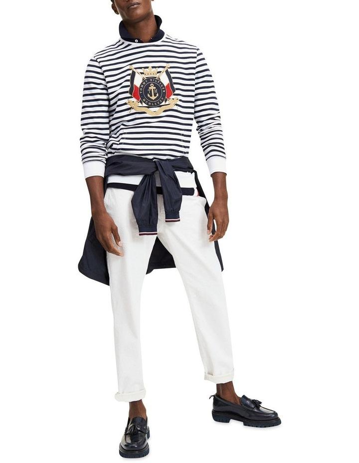 Naval Striped Sweatshirt image 4