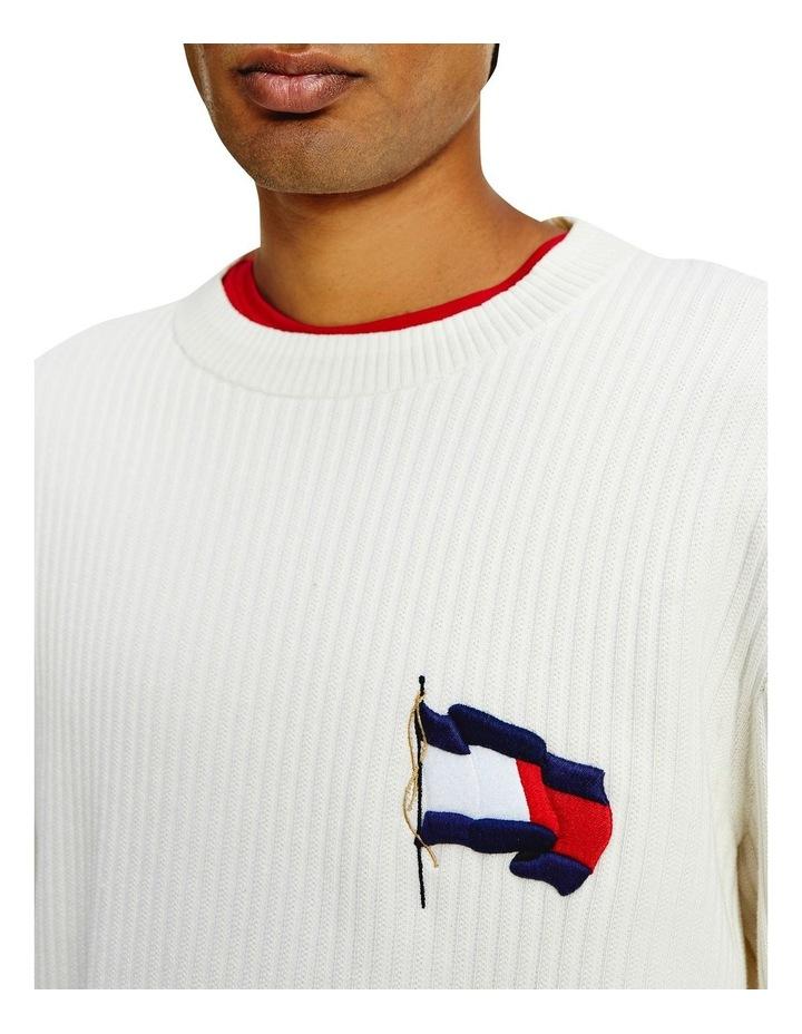 Wavy Flag Graphic Rib Sweater image 4