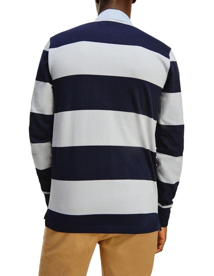 Fashion Block Stripe Rugby image 2