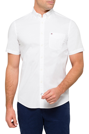 Tommy Hilfiger - Stretch Poplin Short Sleeve Shirt