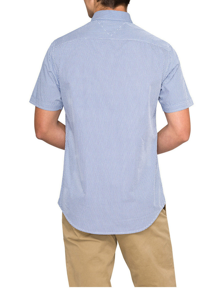 Micro Flower Print Short Sleeve Shirt image 2