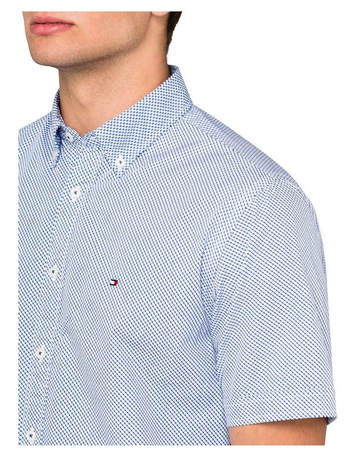 Micro Flower Print Short Sleeve Shirt image 3
