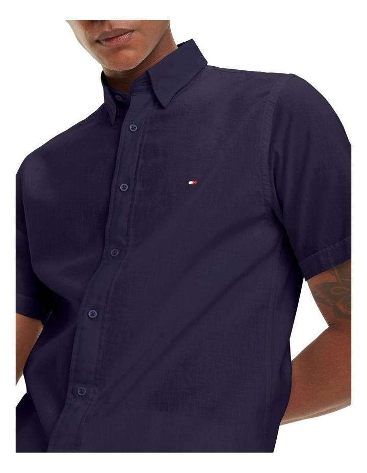 Cotton Linen Short Sleeve Shirt image 3