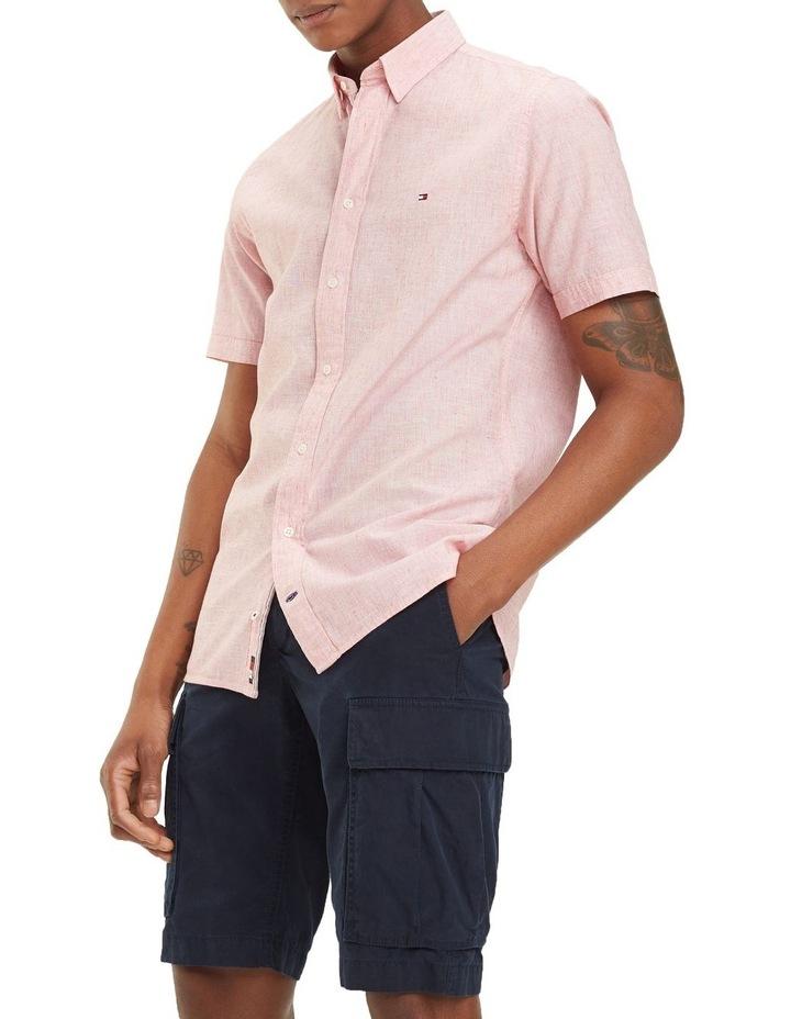 Cotton Linen Short Sleeve Shirt image 1
