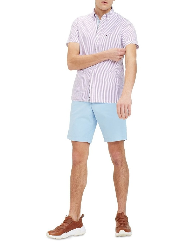 Slim Seersucker Stripe Short Sleeve Shirt image 4