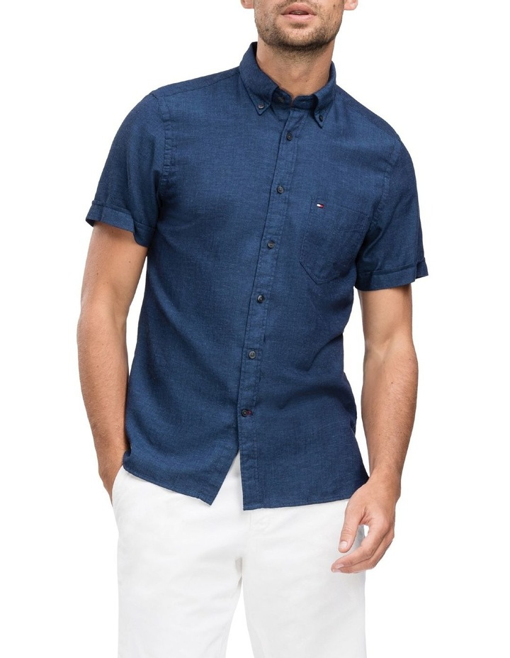 WCC Slim Cotton Linen Short Sleeve Shirt image 1