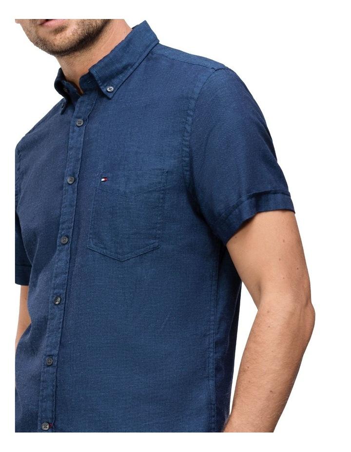 WCC Slim Cotton Linen Short Sleeve Shirt image 3