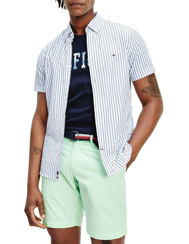 Slim Seersucker Stripe Short Sleeve Shirt image 1