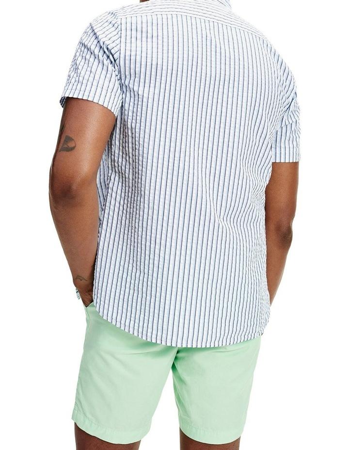Slim Seersucker Stripe Short Sleeve Shirt image 2
