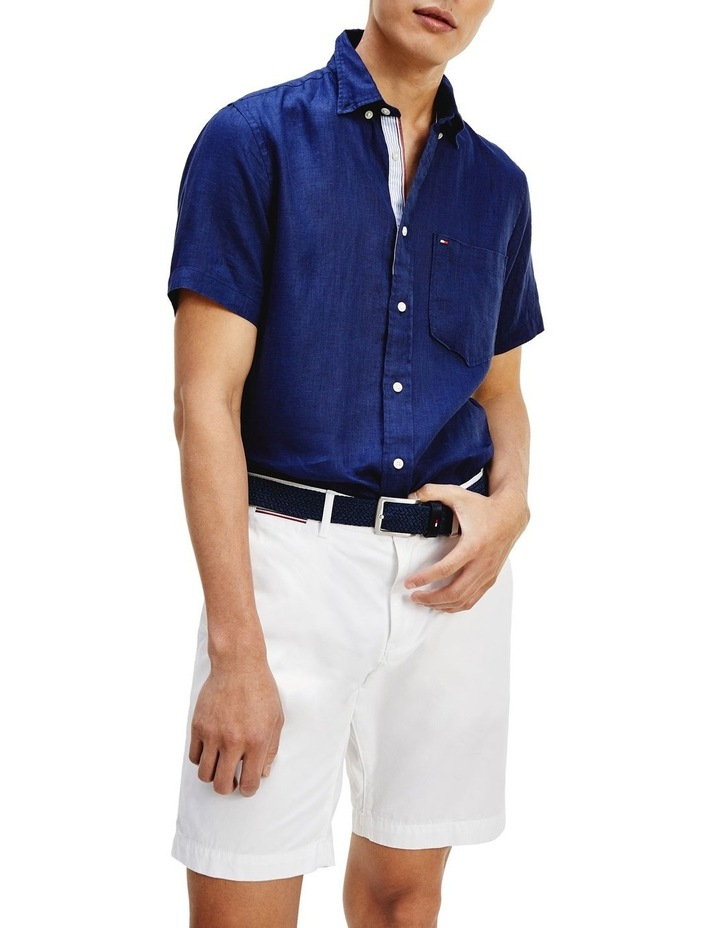 Short Sleeve Pure Linen Shirt image 1