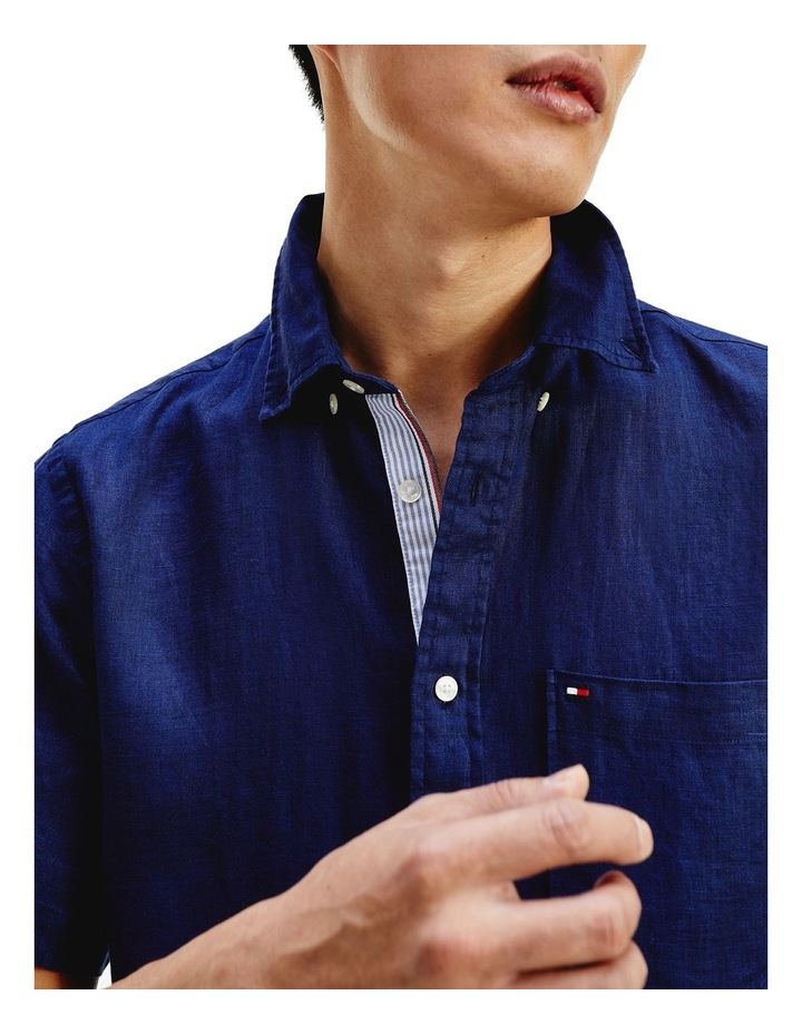Short Sleeve Pure Linen Shirt image 2