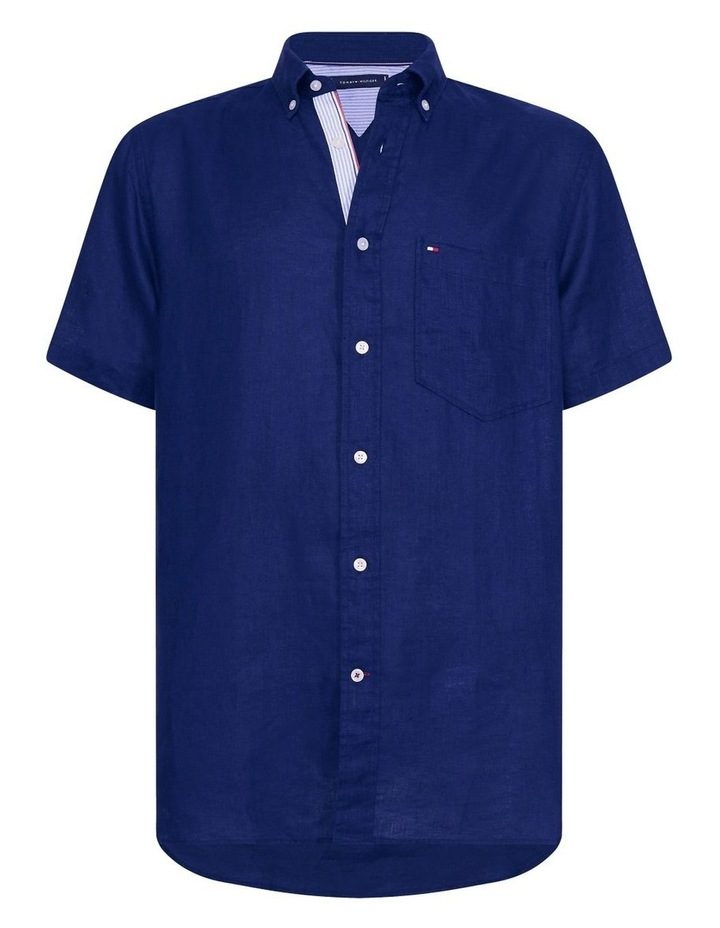 Short Sleeve Pure Linen Shirt image 5