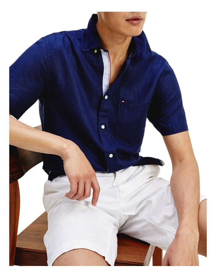Short Sleeve Pure Linen Shirt image 6