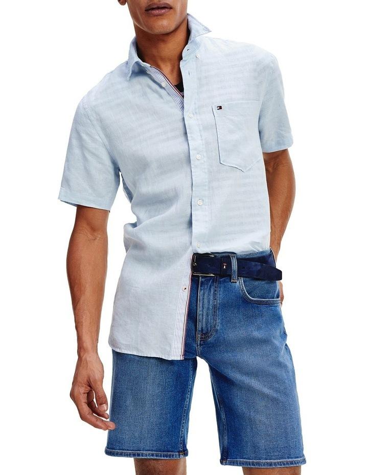 Short Sleeve Pure Linen Shirt image 1