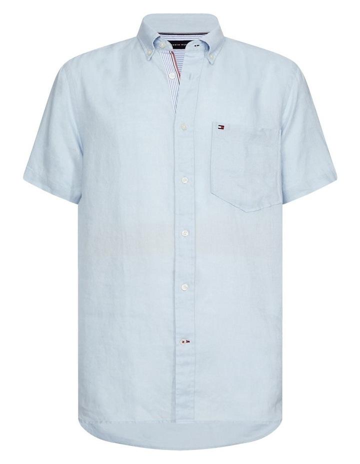 Short Sleeve Pure Linen Shirt image 2
