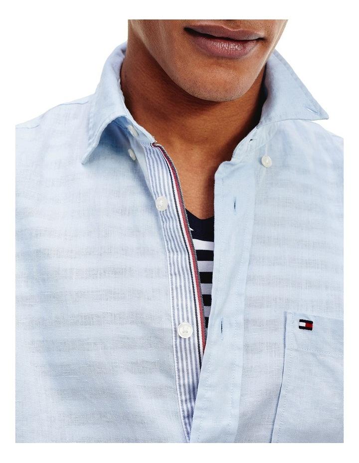 Short Sleeve Pure Linen Shirt image 5