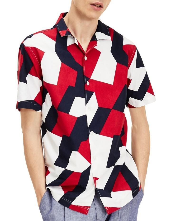 Large Geo Flag Print Short Sleeve Shirt image 1