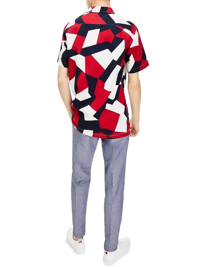 Large Geo Flag Print Short Sleeve Shirt image 2