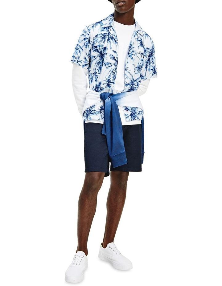 Large Water Colour Palm Short Sleeve Shirt image 1