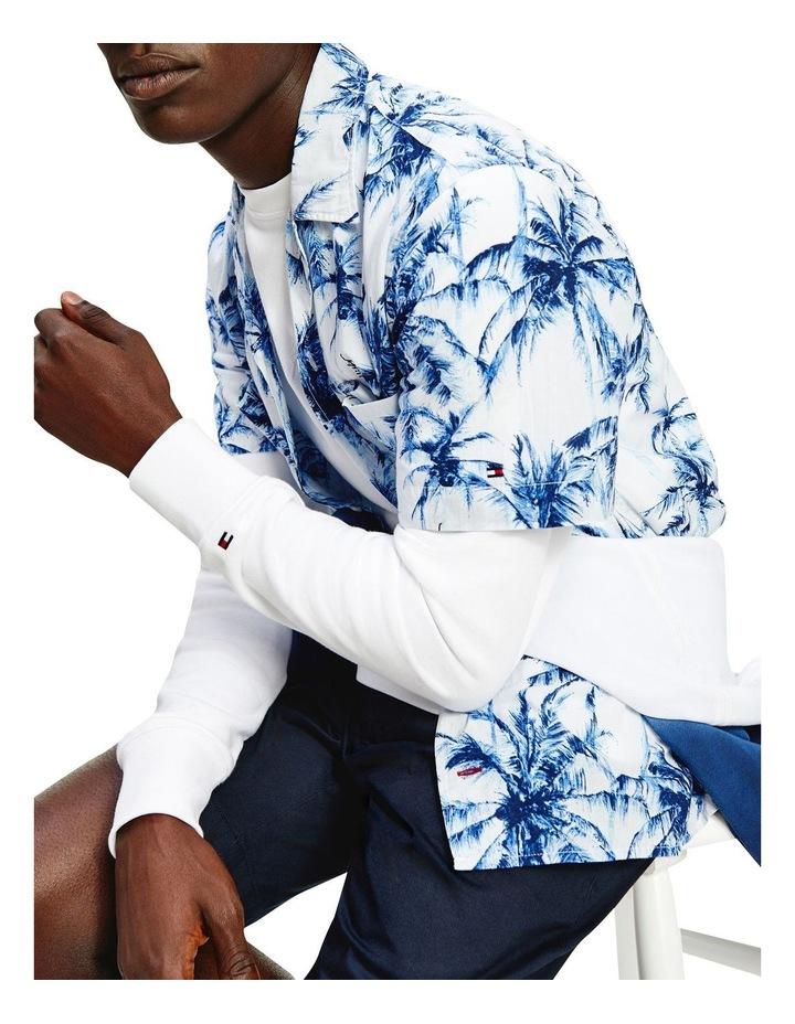 Large Water Colour Palm Short Sleeve Shirt image 4