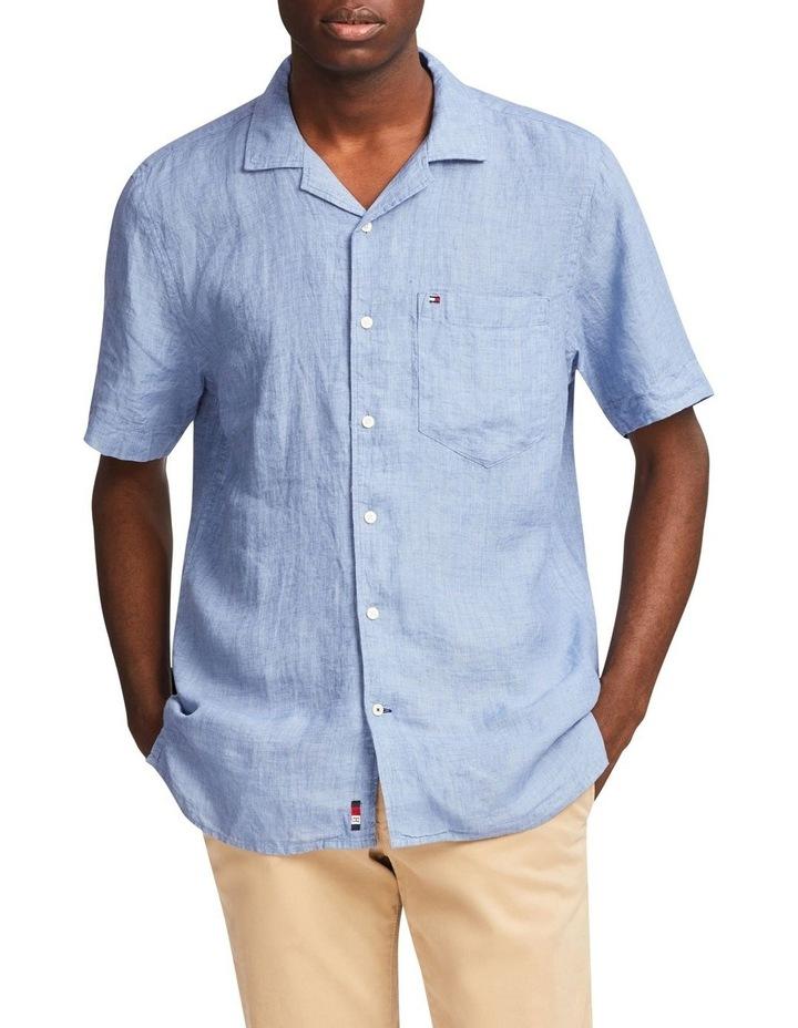 Pigment Dyed Linen Camp Short Sleeve Shirt image 1