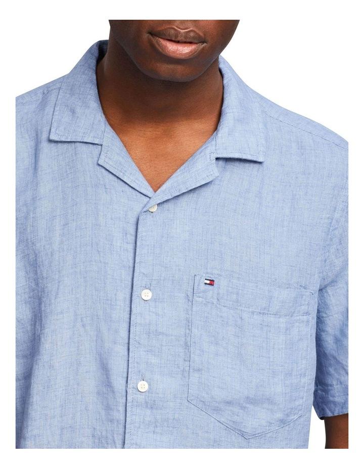 Pigment Dyed Linen Camp Short Sleeve Shirt image 3
