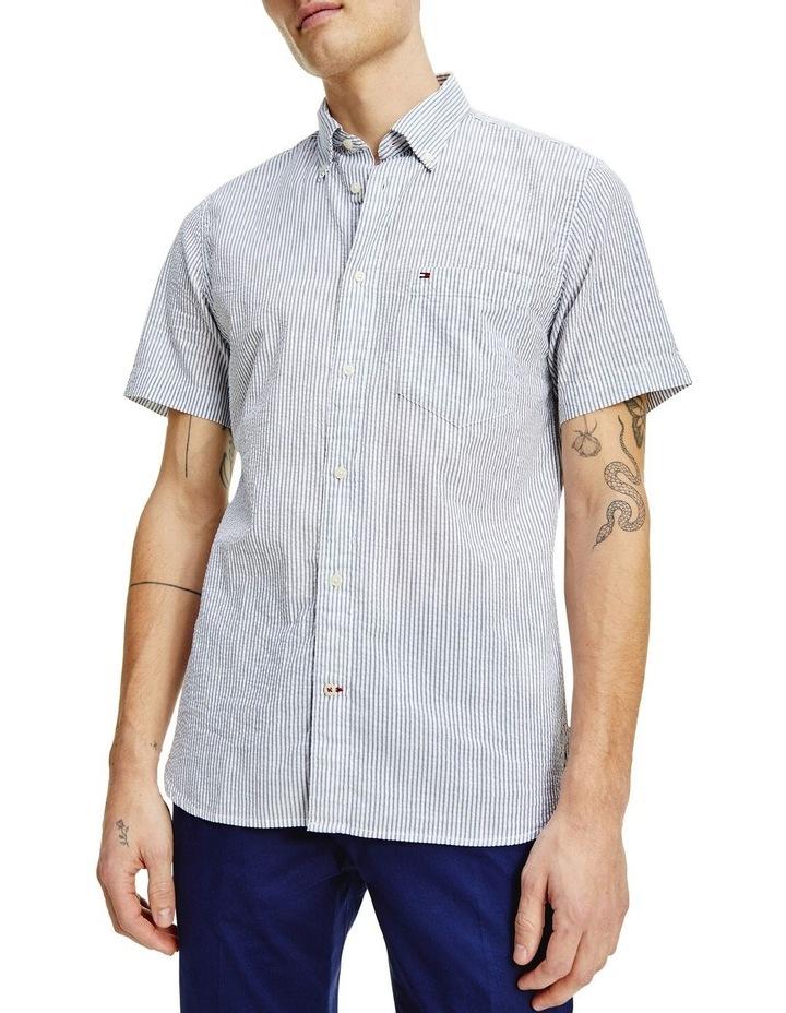 Classic Seersucker Stripe Short Sleeve Shirt image 1