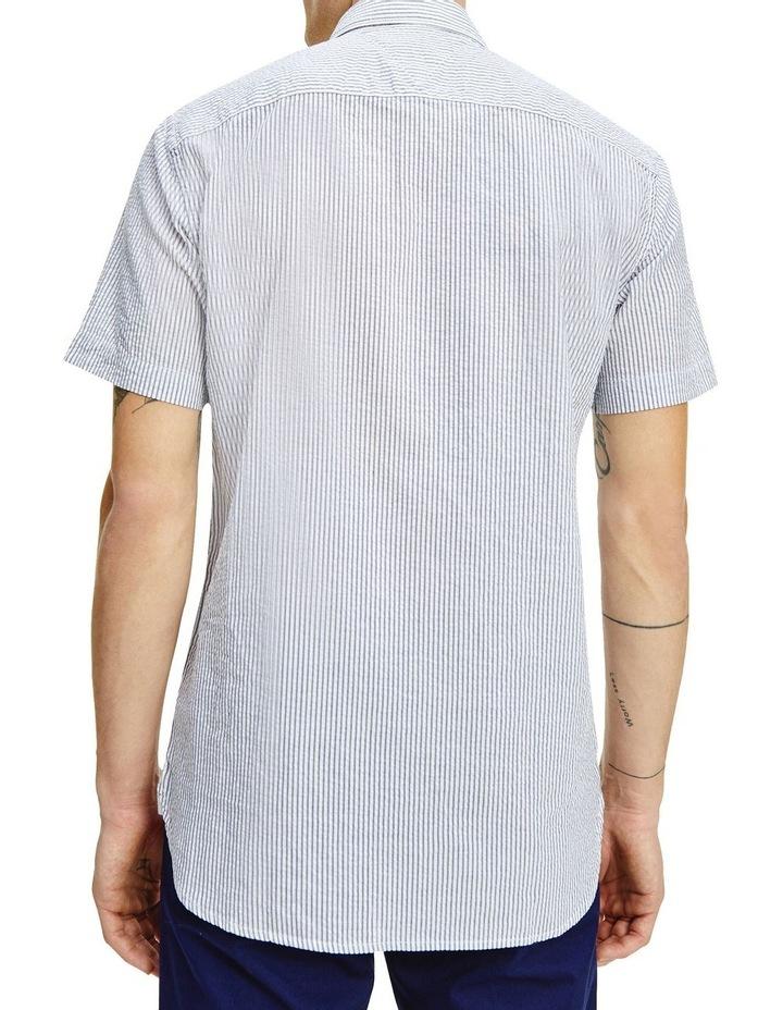 Classic Seersucker Stripe Short Sleeve Shirt image 2