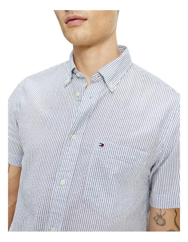Classic Seersucker Stripe Short Sleeve Shirt image 3