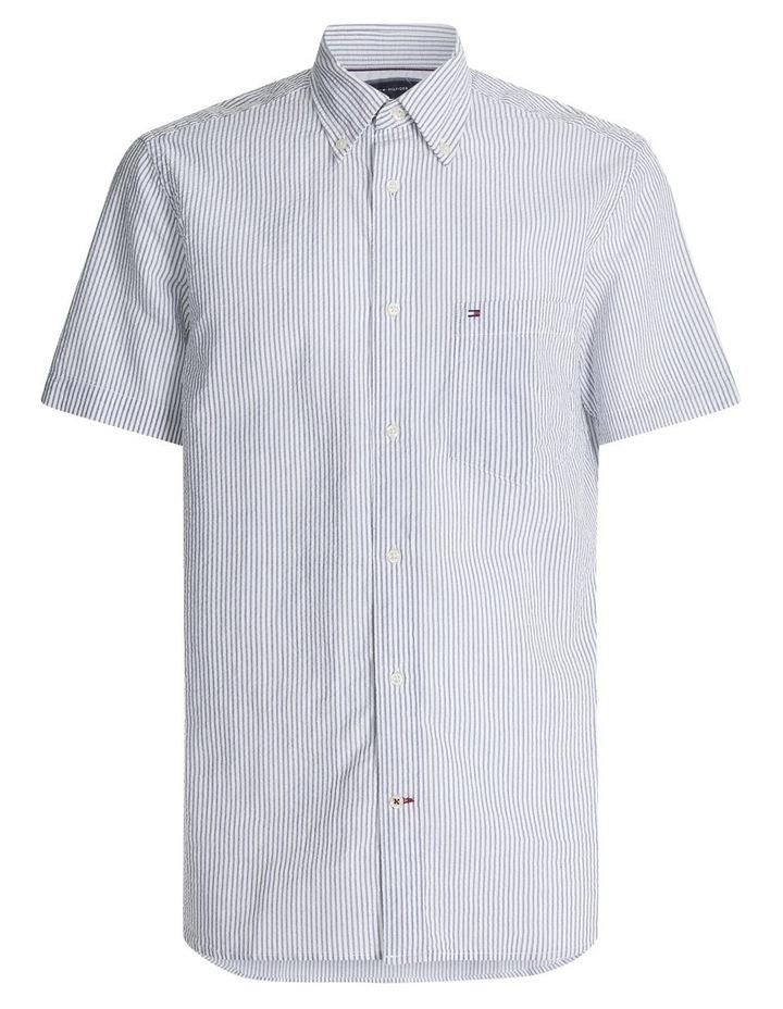 Classic Seersucker Stripe Short Sleeve Shirt image 4