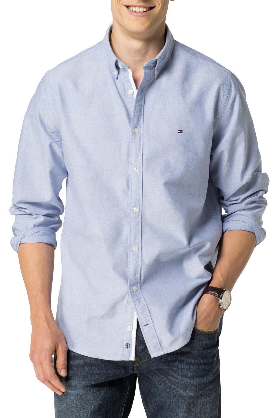 13d4f2651 Tommy Hilfiger Mens Oxford Short Sleeve Shirt - BCD Tofu House