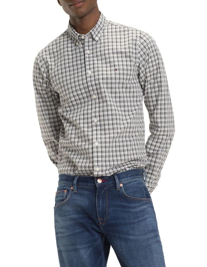 Slim Mid Scale Check Long Sleeve Shirt image 2