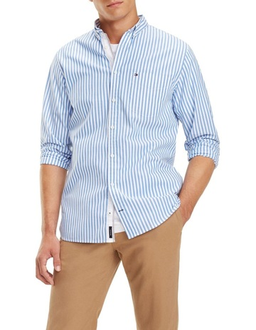 7f3cd3d7 Tommy HilfigerEssential Pure Cotton Stripe Shirt. Tommy Hilfiger Essential  Pure Cotton Stripe Shirt