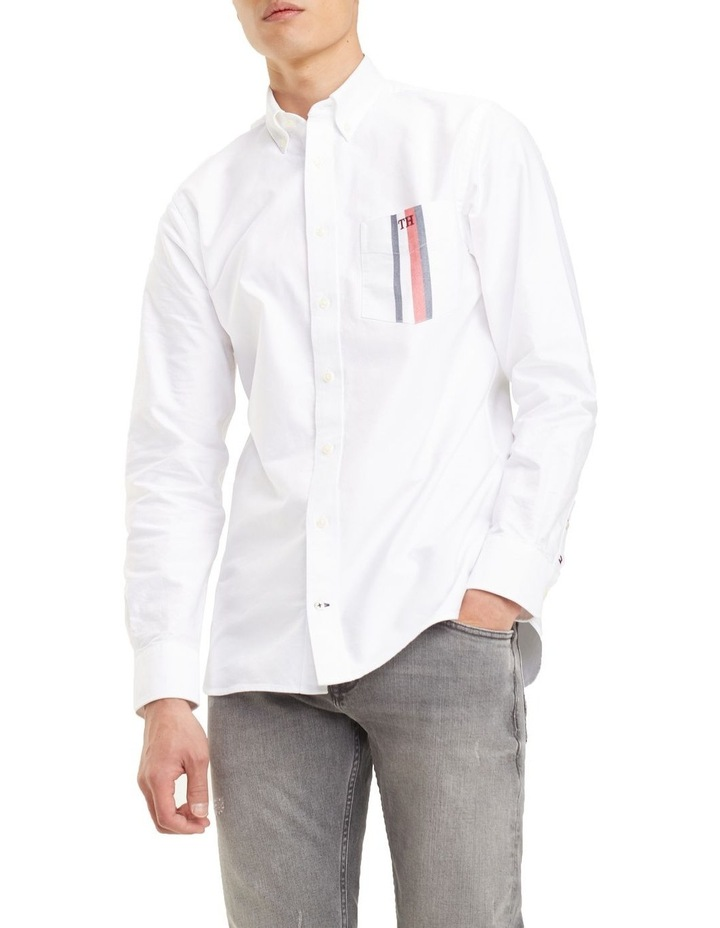 Global Stripe Pocket Long Sleeve Shirt image 1