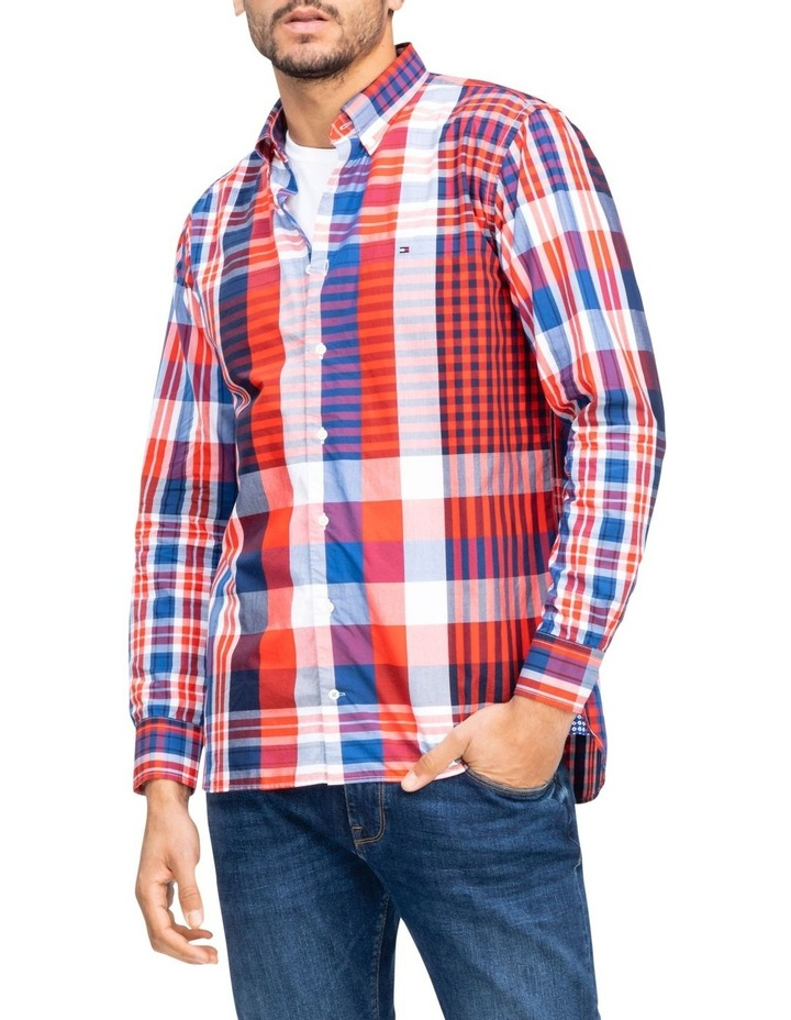 Relaxed Extra Large Check Long Sleeve Shirt image 1