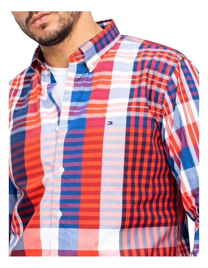 Relaxed Extra Large Check Long Sleeve Shirt image 3