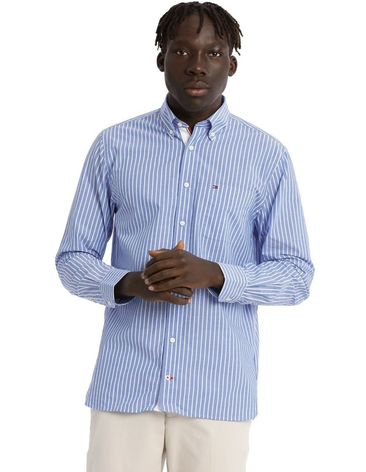 Poplin Stripe Long Sleeve Shirt image 1