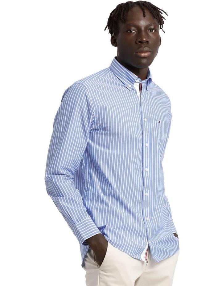 Poplin Stripe Long Sleeve Shirt image 2