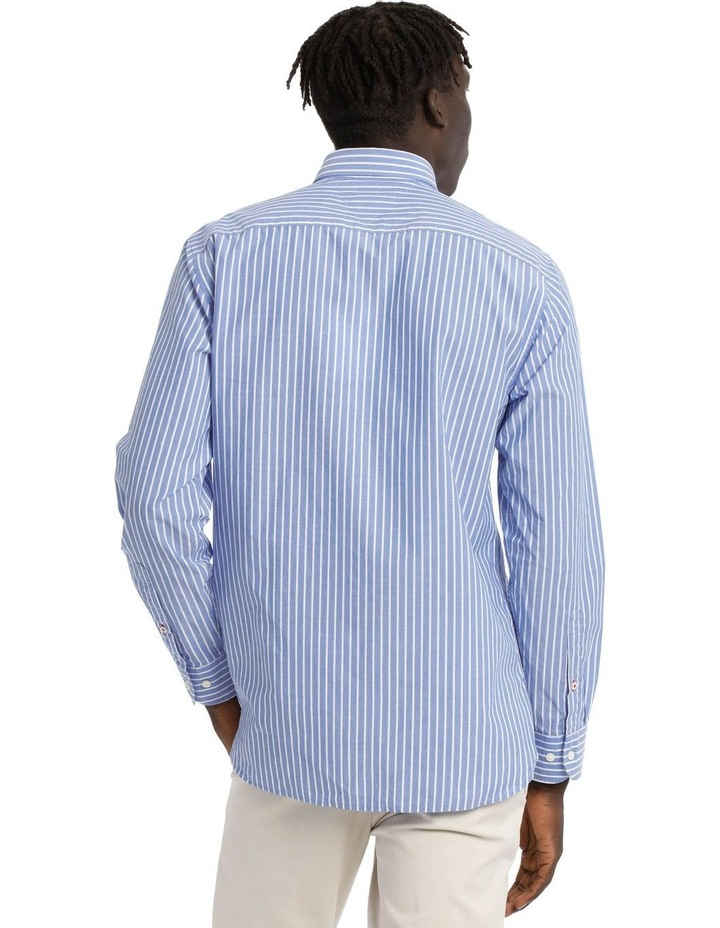 Poplin Stripe Long Sleeve Shirt image 3