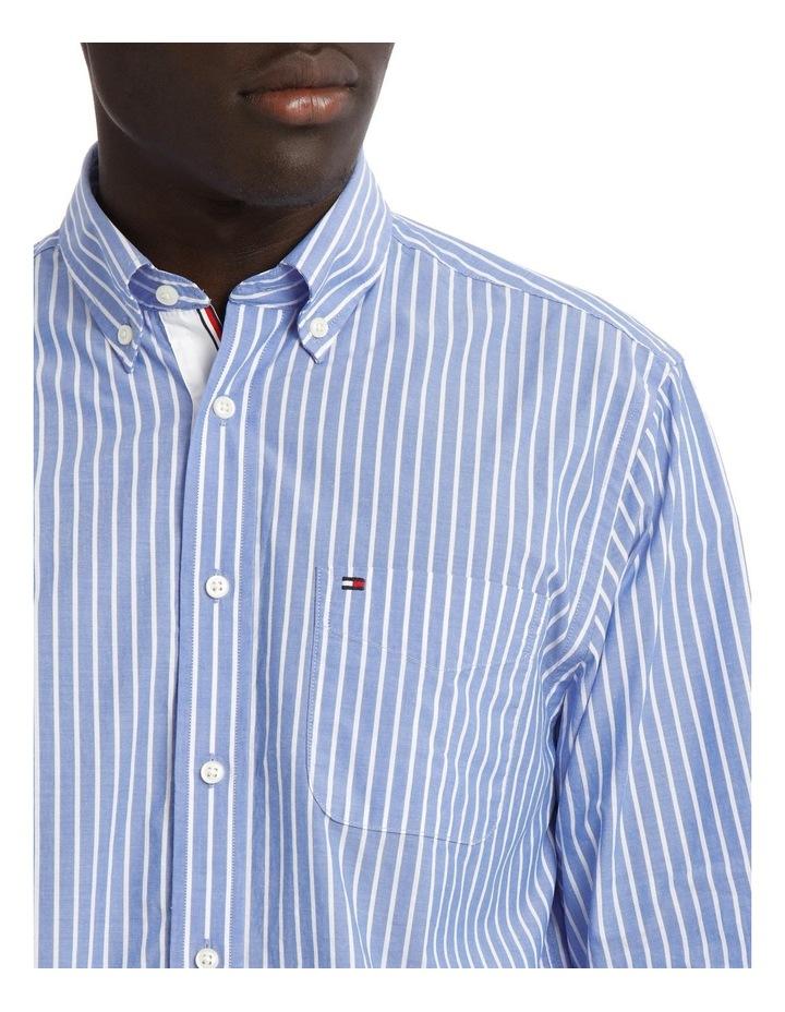 Poplin Stripe Long Sleeve Shirt image 4